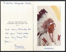 Prince Charles Signed Christmas Card to the Telegraph Clerks Buckingham Palace