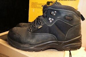 Site Onyx Black Safety Steel Toe Work Boots Size 12 / EU 47 - VGC - AA142