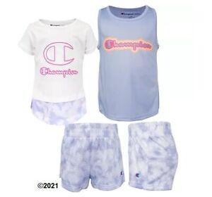 Champion Girl Toddler 3-Piece White/Land Ice Tie-Dye Set Size 3T