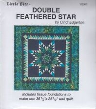 Little Bits Double Feathered Star - little foundation pieced wall quilt PATTERN