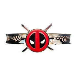 Marvel Deadpool Logo Maximum Effort Cuff Bracelet