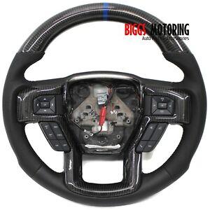 Fits 2015-2020 Ford F150 Carbon Fiber Custom Steering Wheel RACING OFF ROAD SVT