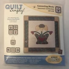 """Quilt Simply Connecting Blocks 16""""x16"""" Seasonal Collection Sunflower 1C"""