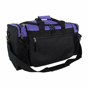 Brand New Duffle Bag Sports Duffel Bag in Purple and Black Gym Bag