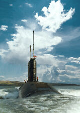 HMS Spartan'82 retorno' - mano acabado, arte de edición limitada (25)