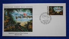 Marshall Islands (302) 1992 WWII: Japanese Land on New Guinea Official FDC
