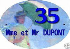 PLAQUE NUMERO DE MAISON ou BOITE AUX LETTRES EXTERIEUR réf 01 choix inscription