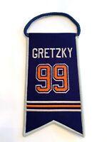 Wayne Gretzky NHL Edmonton Oilers Jersey Retirement Mini Banner Pennant #99