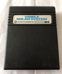 Visible Solar System Commodore 64 Cartridge Untested In Good Shape