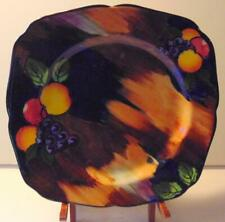 """Vintage Colorful H+K Tunstall (L.4899) China England """"Autumn"""" 9"""" Square Plate"""