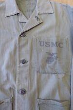 RARE NAMED WW2 USMC MARINE P41 HBT JACKET