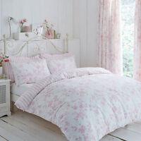 Charlotte Thomas Amelie Design Reversible Stripe Duvet Set or Curtains in Pink