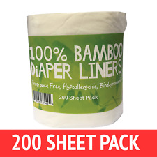 Comfy Solutions Bamboo Nappy Liners - 200 Sheet