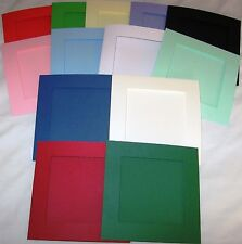 "Aperture Cards 144mm/6""  Sq 3 Fold with envelopes YOU PICK COLOURS & PACK SIZE"