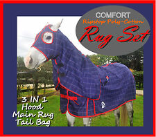 "COMFORT I 5'9"" I Cotton set I Horse Rug/Hood/Tailbag I TOP QUALITY Ired"