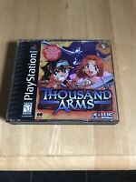Thousand Arms PS1 COMPLETE, MANUAL INCLUDED, STICKERS AND CARD