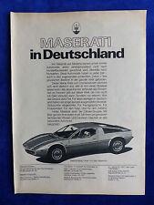 MASERATI MERAK-visualizzazione pubblicitario pubblicità con loghi advertisement 1974 __ (834