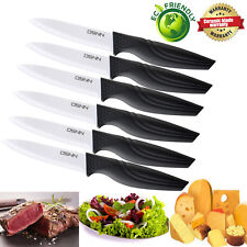 Extremely Sharp Steak Knife Set of 6 Worthy Ceramic Blade Knives Kitchen Cutlery