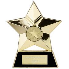 Gold Metal Star Trophy School Award Free Standing FREE ENGRAVING AP001G