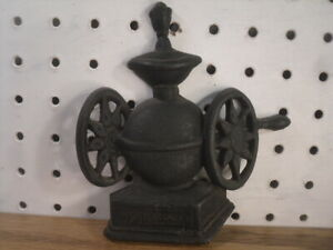 Cast Metal Wall Plaque - Coffee Grinder Horizontal Type