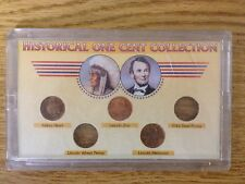 Historical One Cent Collection-Penny Indian Head Lincoln Memorial Lincoln Zinc