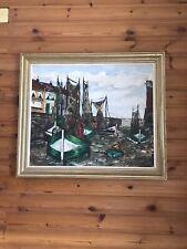 peinture. Port De Mer