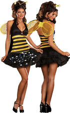 Sexy Bee Yellow Jacket Wasp Womens Adult Halloween Costume Party Lights Up Large