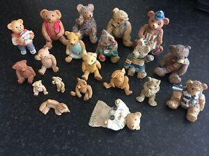 Collection Of  20 Bears Various Sizes Used