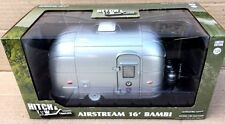 GREENLIGHT AIRSTREAM 16' BAMBI TRAILER DIE CAST HITCH TOW 1/24 SIL 18410