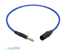 Mogami 2534 Quad Cable   Neutrik Gold TRS XLR-M   Blue 1 Feet   1 Ft.   1'