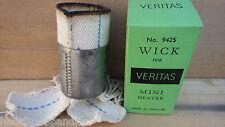 De COLECCIÓN REEDICIÓN Veritas 9425 Mini Calentador Wick Caja Verde Tubular Con Mecha Carrier