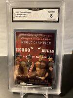 1997 TOPPS CHROME BULLS NBA Champions Checklist Michael JORDAN GMA 8 Sp PSA Sgc