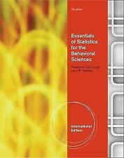 Essentials of Statistics for the Behavioral Science by Larry B. Wallnau,...