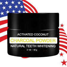 New 100% Natural Teeth Whitening Coconut Activated Carbon Charcoal Power 60g