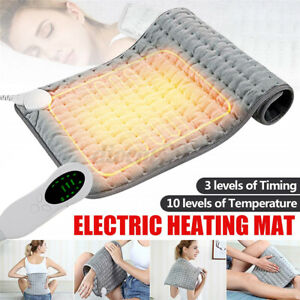 45W Electric Heating Pad Heat Therapy Feet Warmer Mat Neck Shoulder Pain Relief