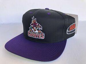 VINTAGE DEADSTOCK PHOENIX COYOTES STRAPBACK HAT G CAP 90S NHL SNAPBACK RETRO