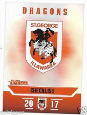 2017 NRL Traders Parallel Special (PS121) DRAGONS Check List