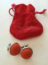 Paul Smith Women fab vintage cuff links orange beaded metal mint