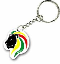 Keychain key ring keyring car rasta haile selassie rastafarai lion of judah rA
