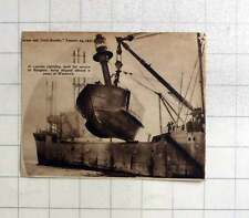 1937 120 Ton Lightship Built For Rangoon Shipped Aboard Vessel Woolwich