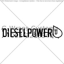 Diesel Power Car Sticker Very cool High Quality JDM VAG Mazda Seat HONDA VW