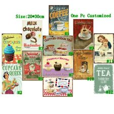 Milk Chocolate Vintage Metal Tin Signs Cupcakes Retro Art Wall Decor Poster