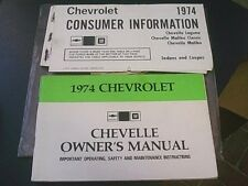 1974 CHEVROLET CHEVELLE OWNERS MANUAL