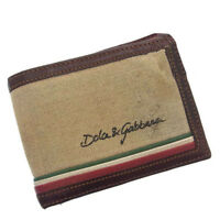 Dolce&Gabbana Wallet Purse Bifold Logo Brown Beige Woman Authentic Used G050