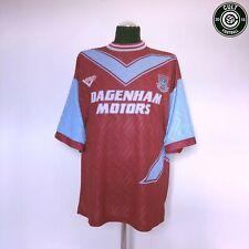 WEST HAM UNITED Vintage Pony HOME Football Shirt Jersey (XL) 1993/95