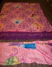Walt Disney Princess CINDERELLA BELLE RAPUNZEL TWIN SIZE BED SHEET SET FABRIC