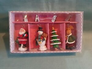 Arthur Price Christmas Table Cloth Weights Tree Snowman Santa Reindeer BNIB