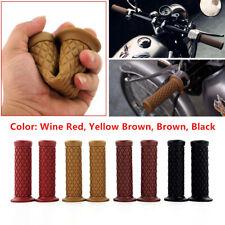 "2PCS 7/8"" 22mm Rubber Handlebar Hand Grip Bar End For Motorcycle Bike Cafe Racer"