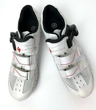 Scattante White Bike Snap On Hook & Loop Bike Shoes Size EUR 42 US 10