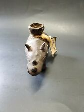Rhino Sculpture Figurine Candle Holder Bronze Vintage Patina collectable